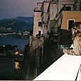 Tanya in Sorrento at sunset