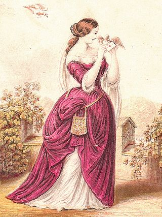 Lady with dove