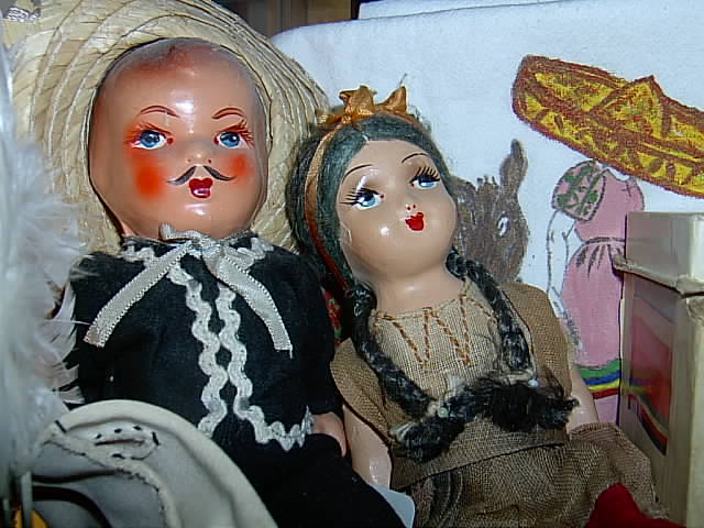 Vintage Mexican Dolls Early California