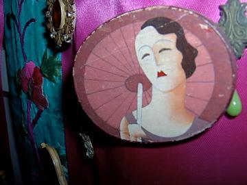 Vintage Flapper Brooch