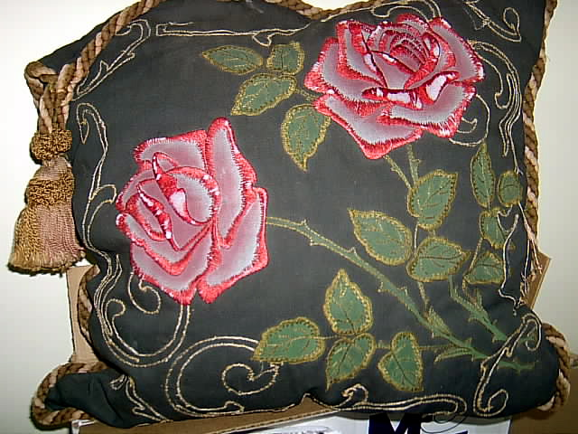 Vintage Antique Embroidered Pillow